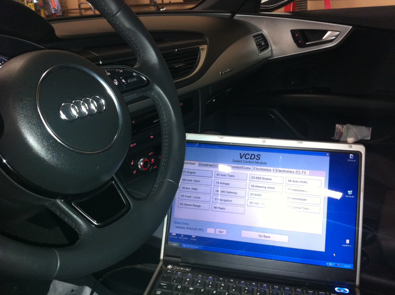 Using volkswagon-audi  diagnostic program ross-tech vag-com  You need this level of diagnostics  to work on these cars