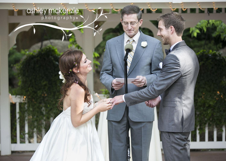 Charlotte Taylor being wed to Jonathan Jarrow by Scott Jarrow