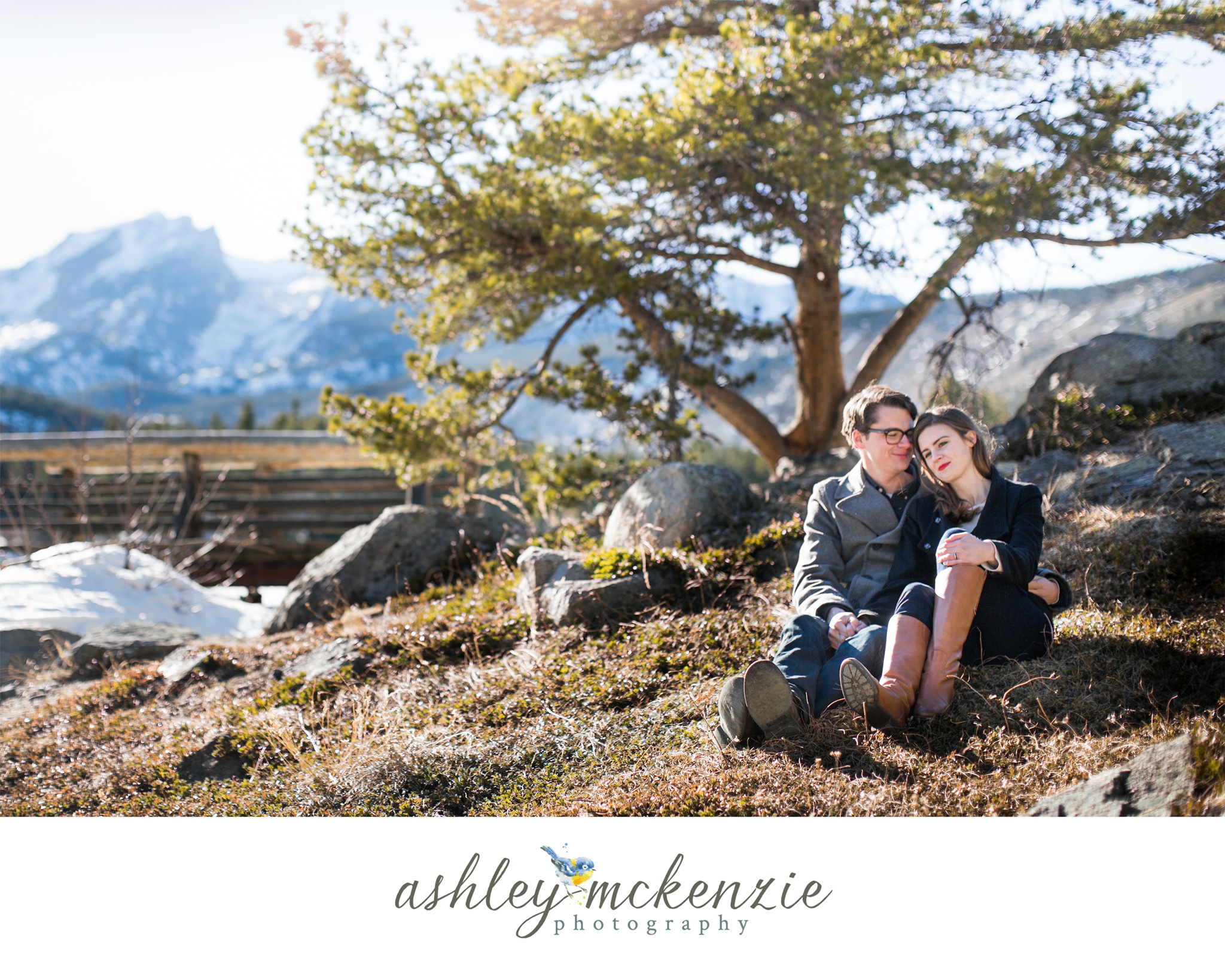 Engagement Photos at Sprague Lake in Rocky Mountain National Park by Ashley McKenzie Photography