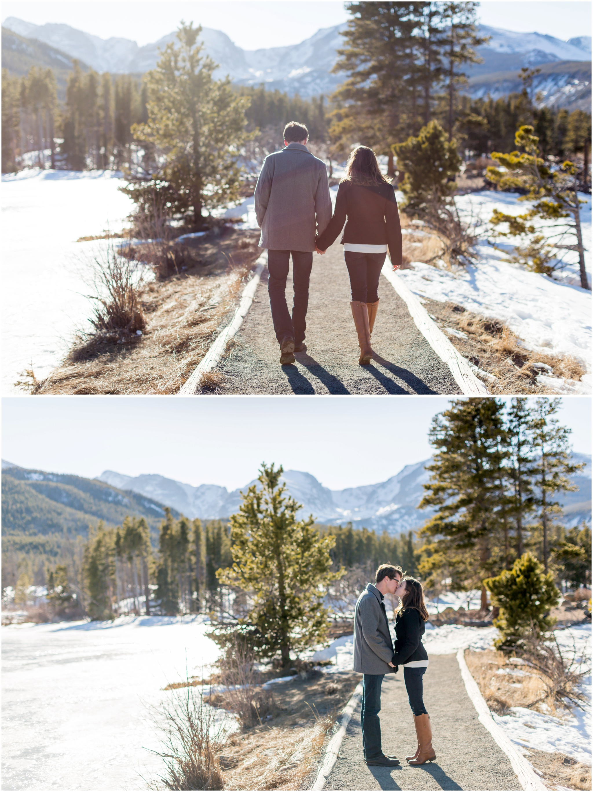 engaged-couple-walking-on-mountain-trail