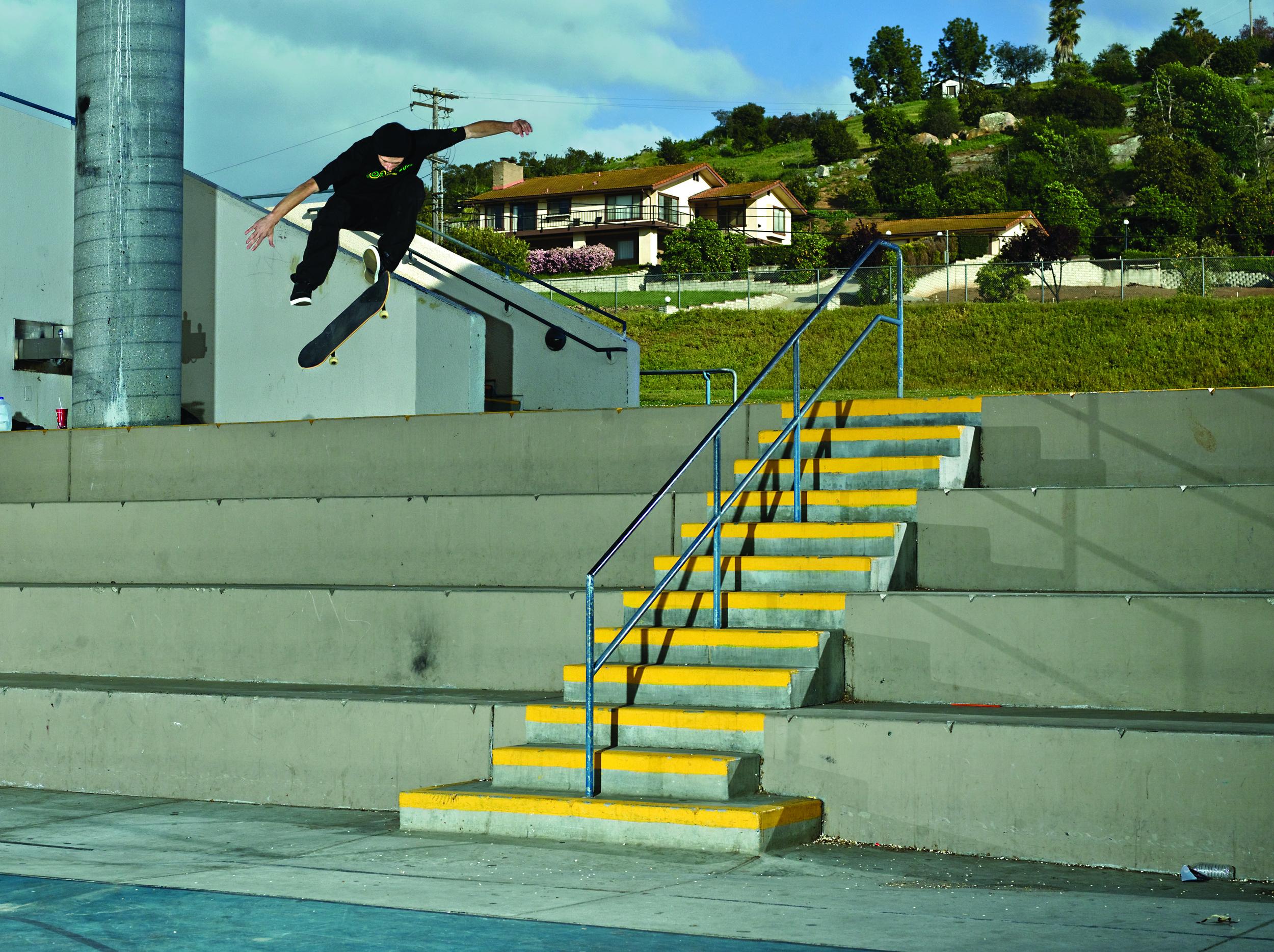 Switch 360 flip by Matt Daughters, San Diego