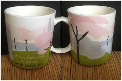 I am not sure if these mugs have a particular name but sometimes cities have special mugs for various events or areas. I got this one a few years ago at the Cherry Blossom parade in D.C.