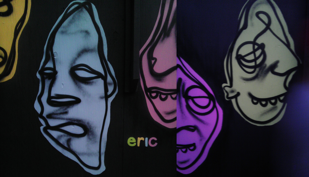here's some deets of other faces i decided to put my name on...i'm stoked on how much the black background makes the colors pop