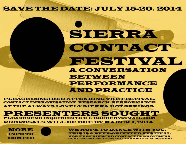 and announcing the 2014 Sierra Contact Festival!