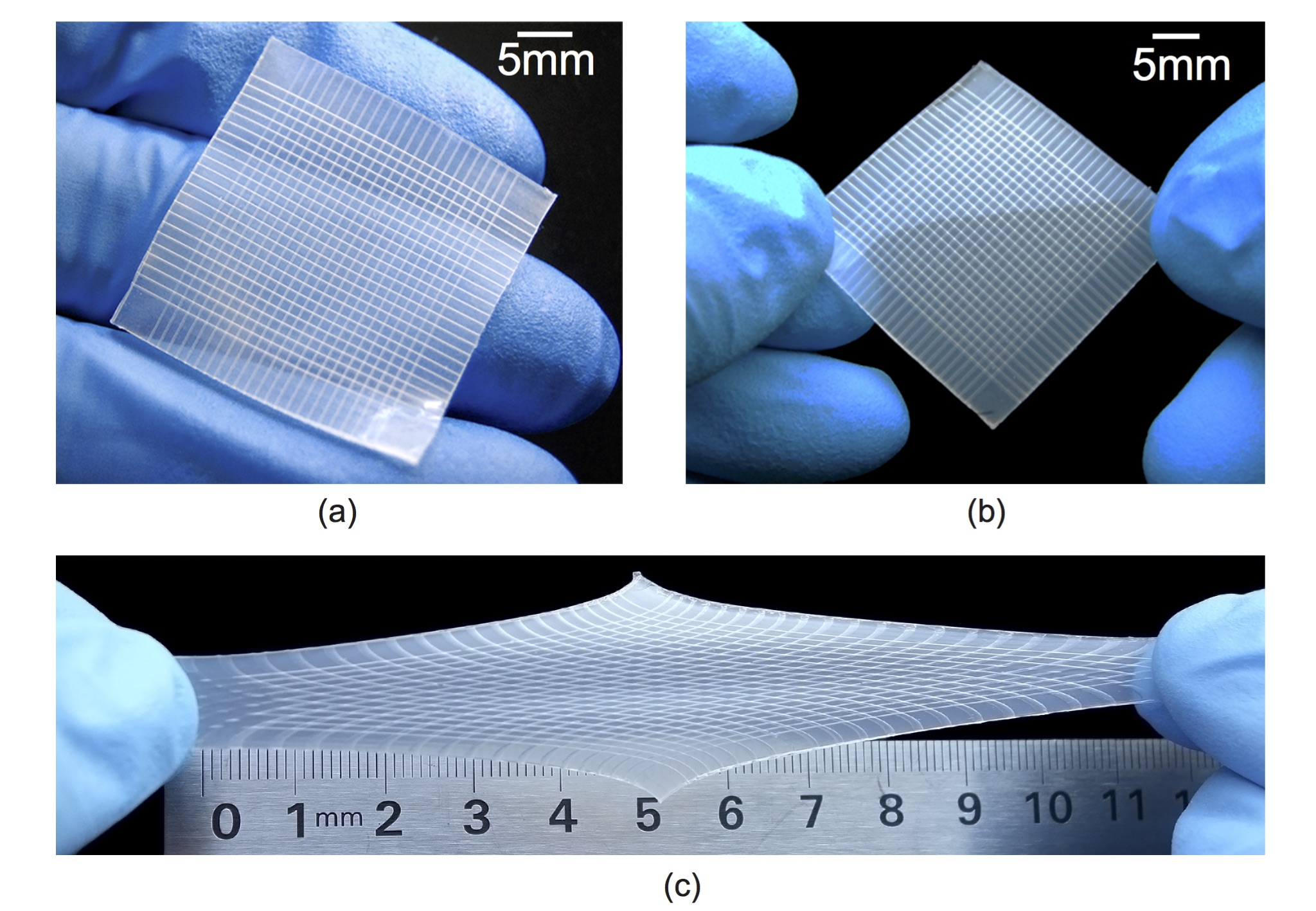 Stretchable tactile imaging sensors