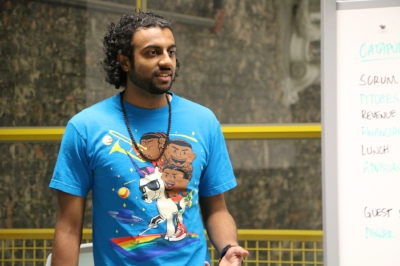 And yes, this is a photo of me wearing the shirt on a different occasion for a public speaking appearance.