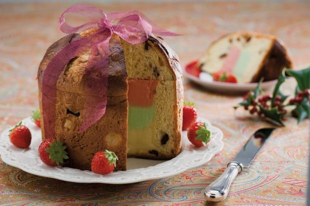 Italian Panettone - typical Christmas cake