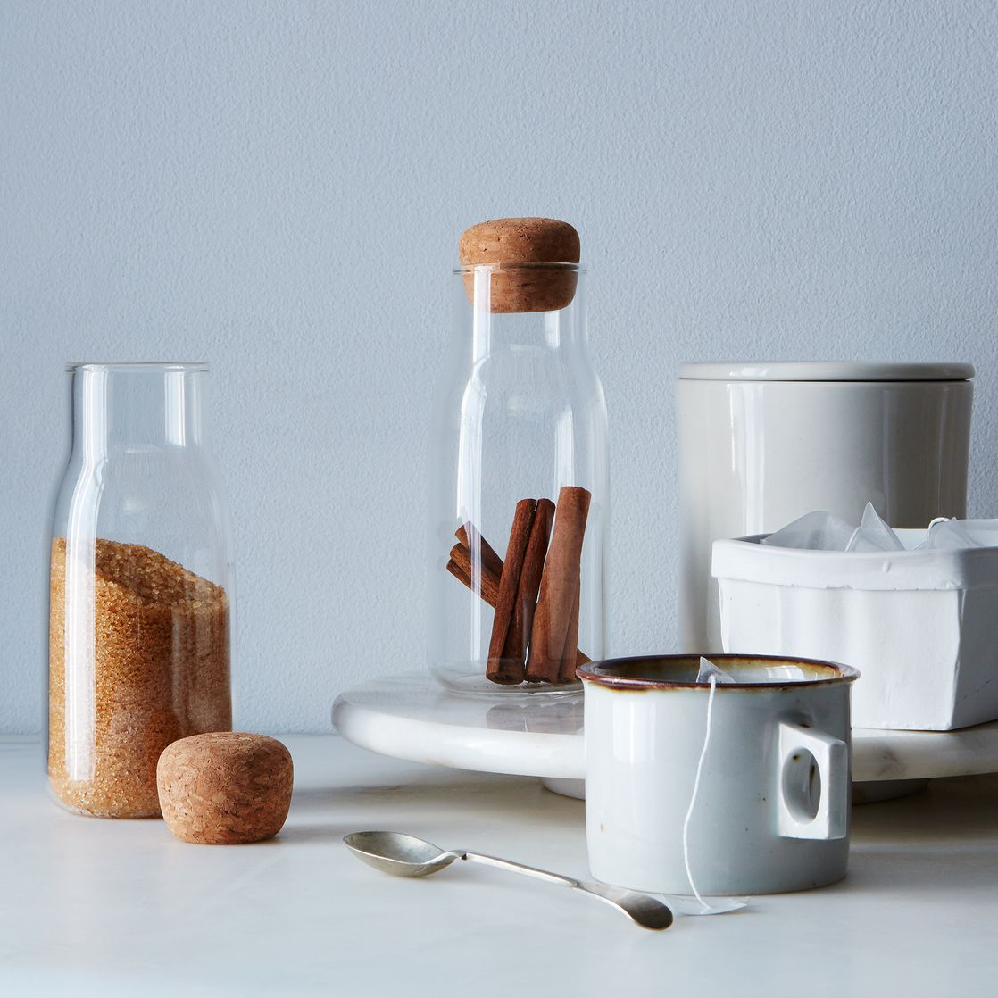 Glass & Cork Canisters.