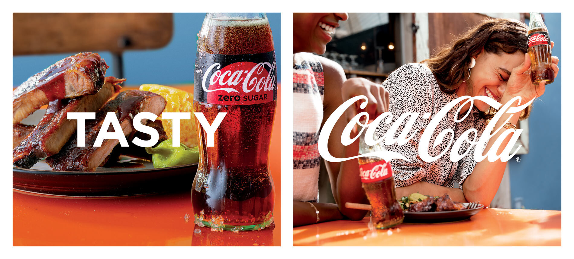 Food Styling — Lead Food Stylist: Victoria Granof, Los Angeles Food Styling Assistant:  Kendra Aronson . Client: Coca Cola. Photographer: (L) Anna Williams (R): Anais & Dax. Agency: Joy Asbury Productions. Location: Los Angeles.