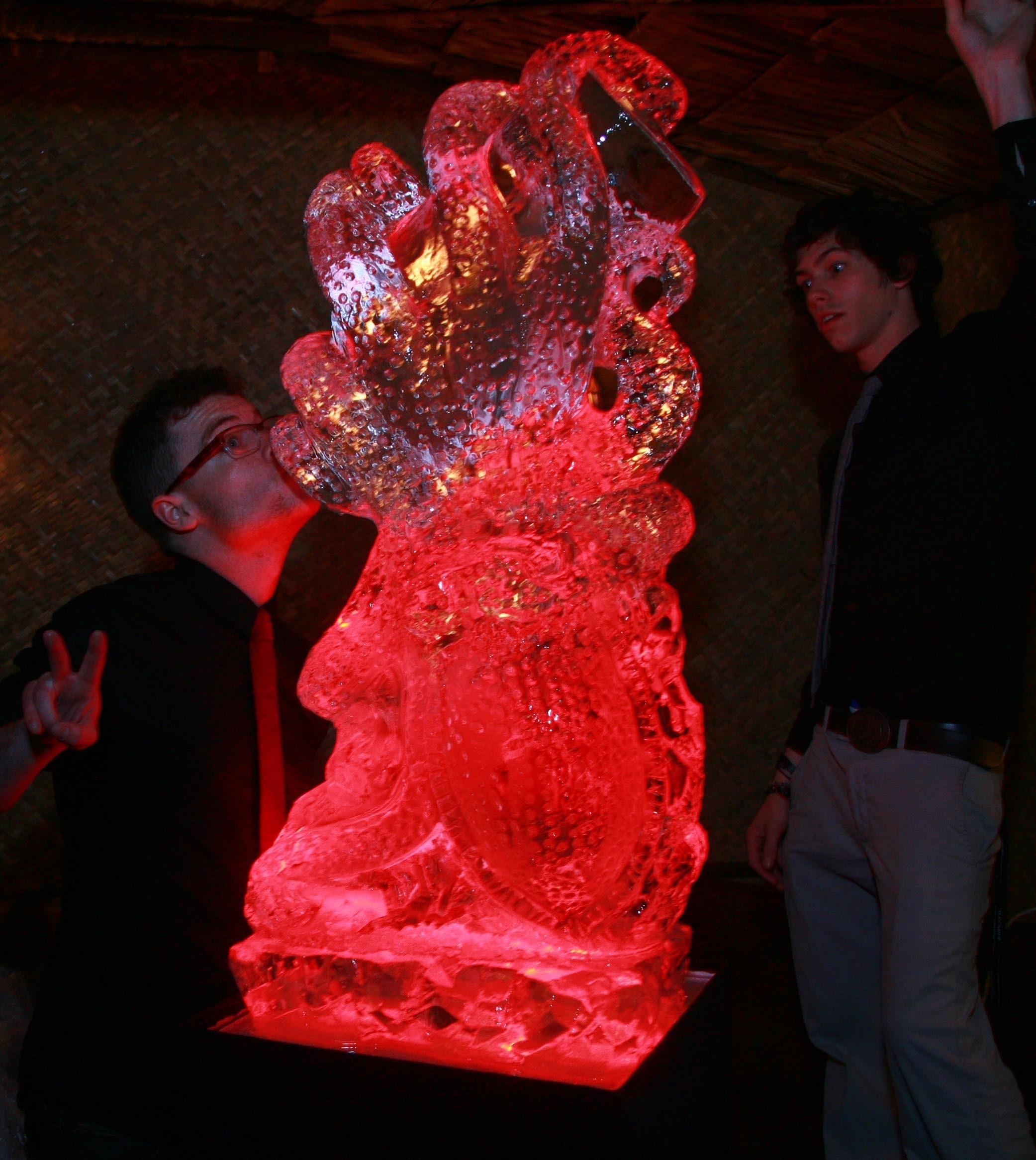 The Kraken Rum Vodka Luge Ice Sculpture