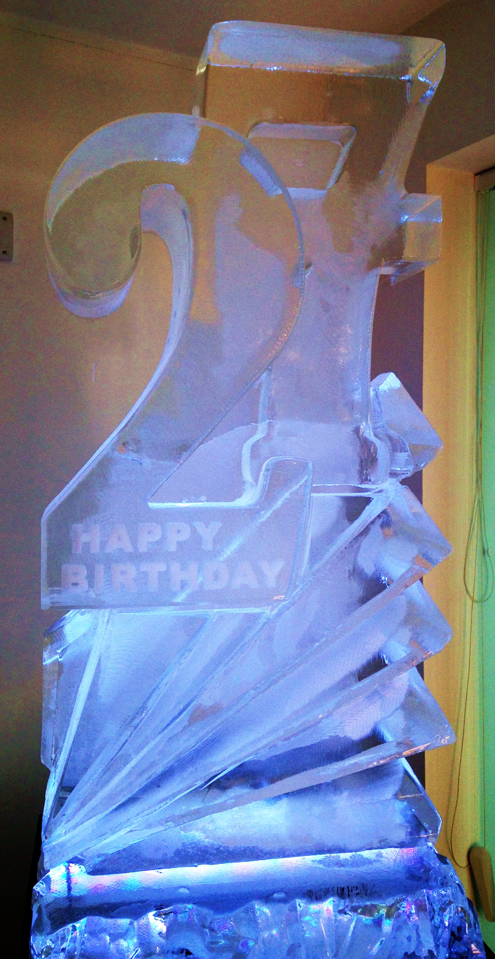 Birthday Numbers Ice Sculpture
