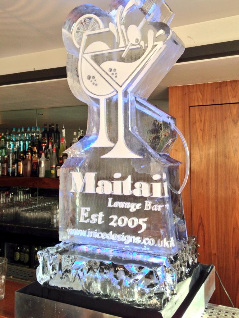 Mai Tai Cocktail Lounge Birthday Ice Sculpture