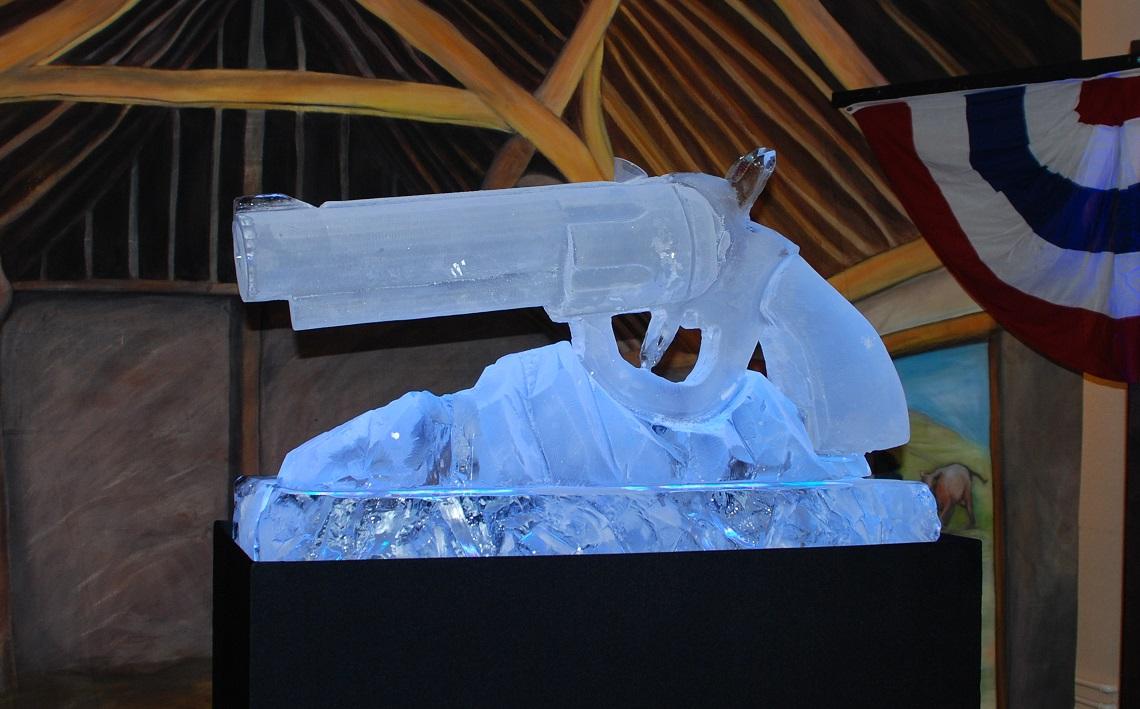 Wild West Revolver Vodka Luge
