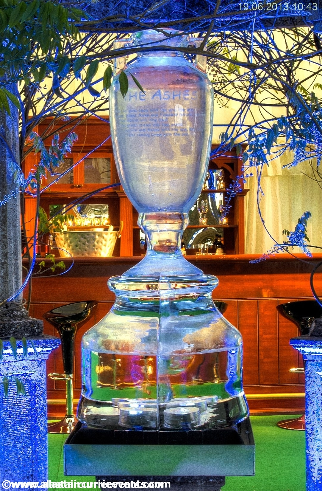 The Ashes Urn Ice Sculpture