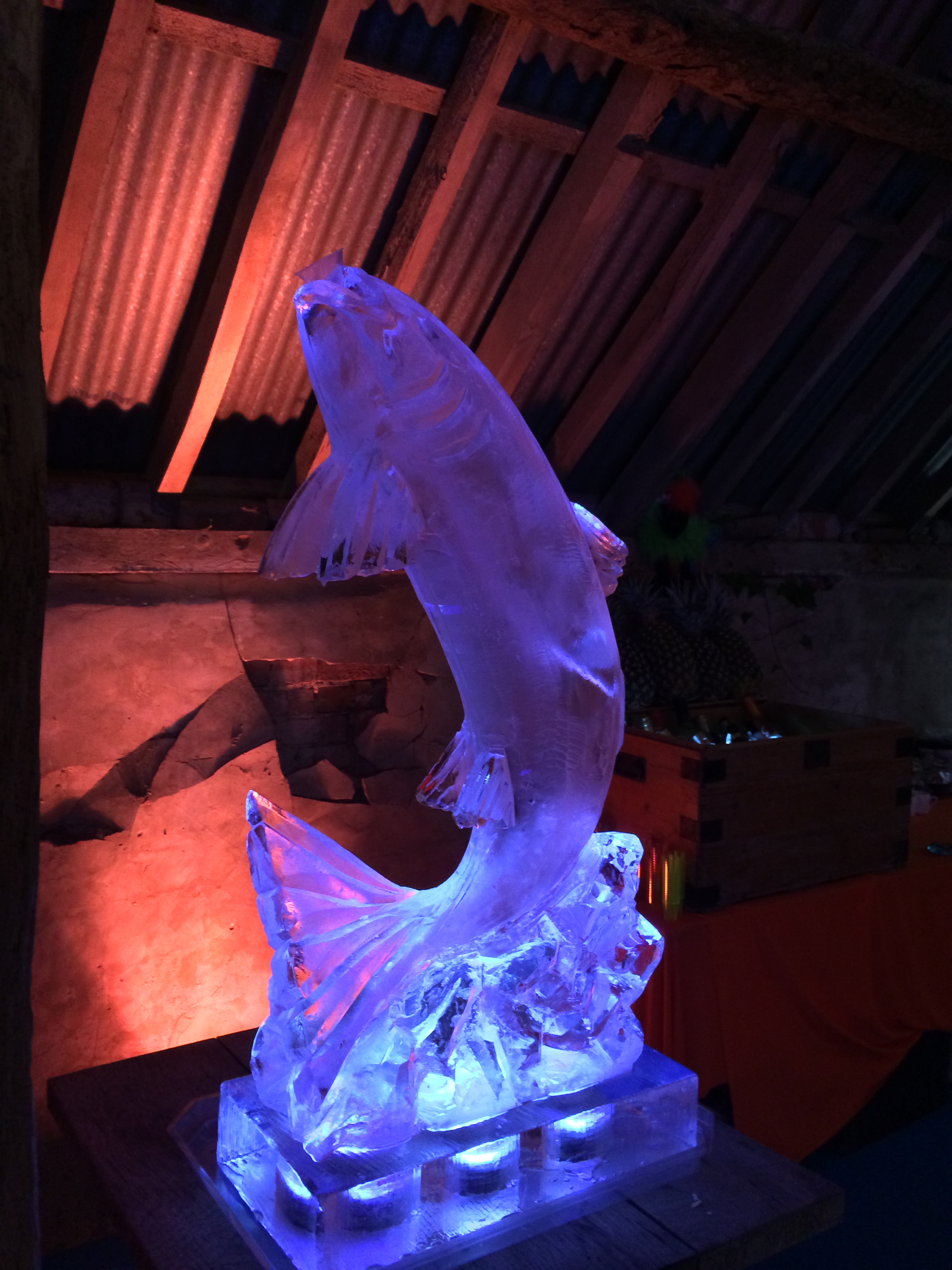 Leaping Fish Ice Sculpture