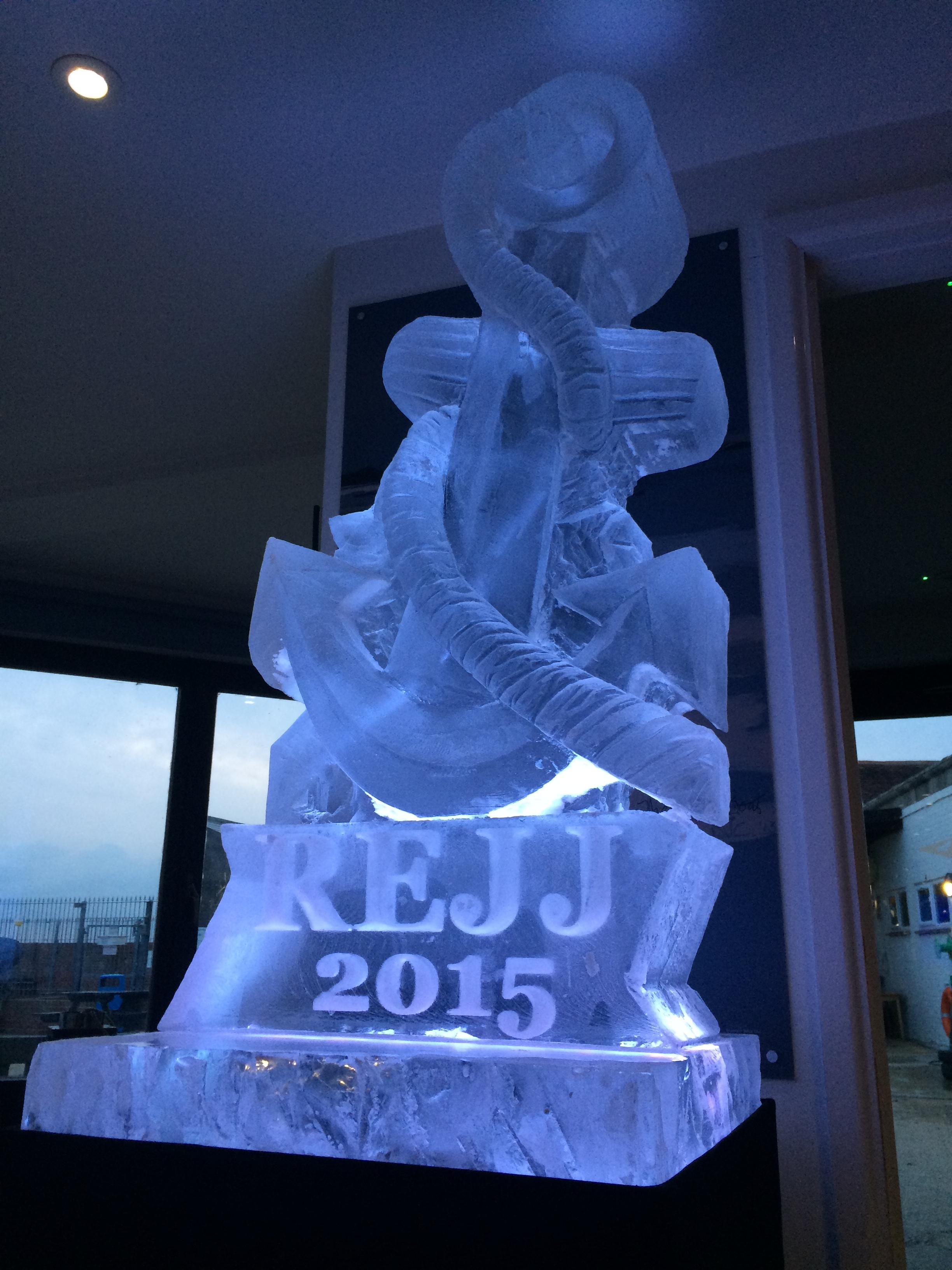 Anchor Ice Sculpture Vodka Luge