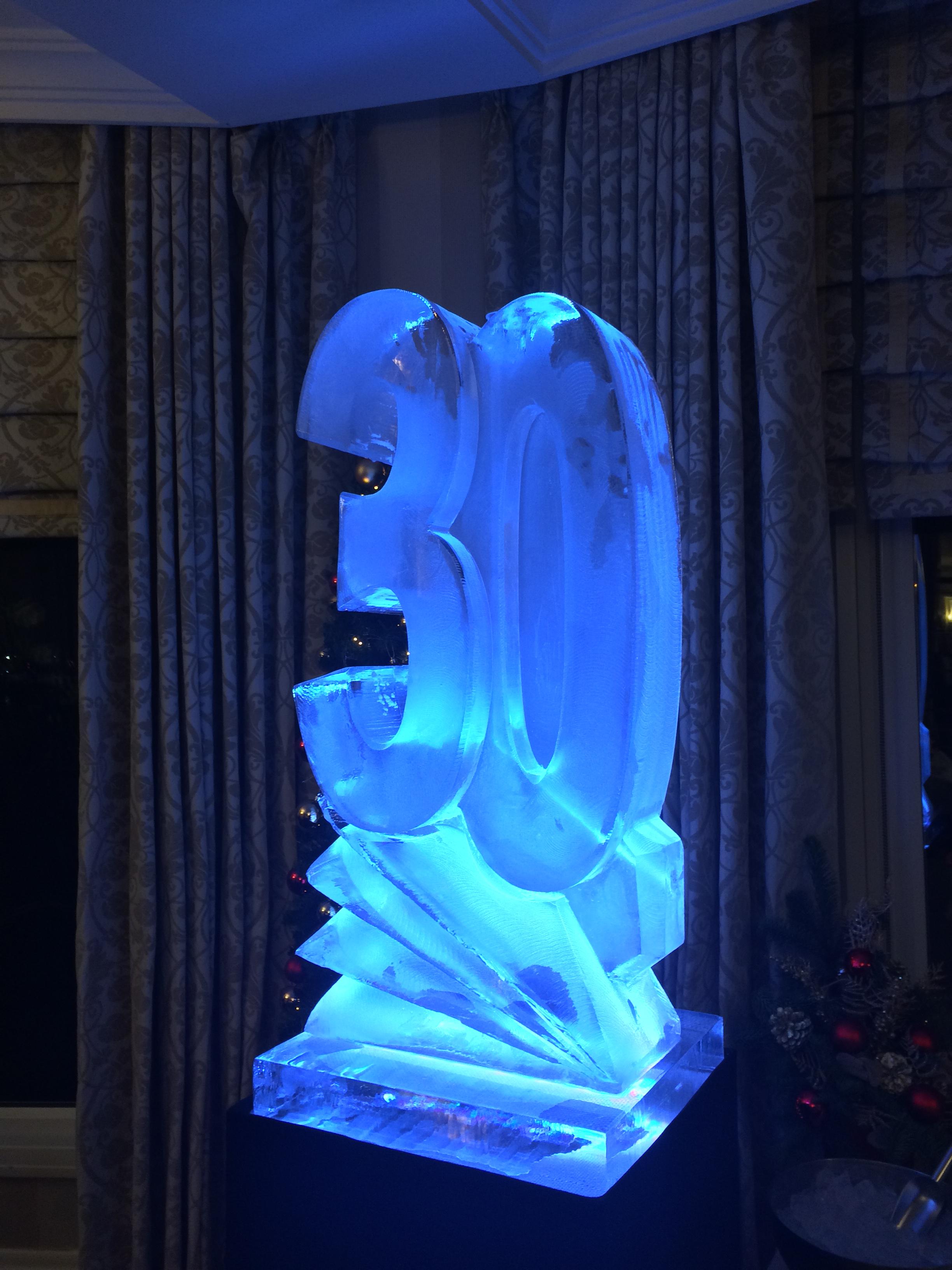 30 Vodka Luge Birthday Ice Sculpture