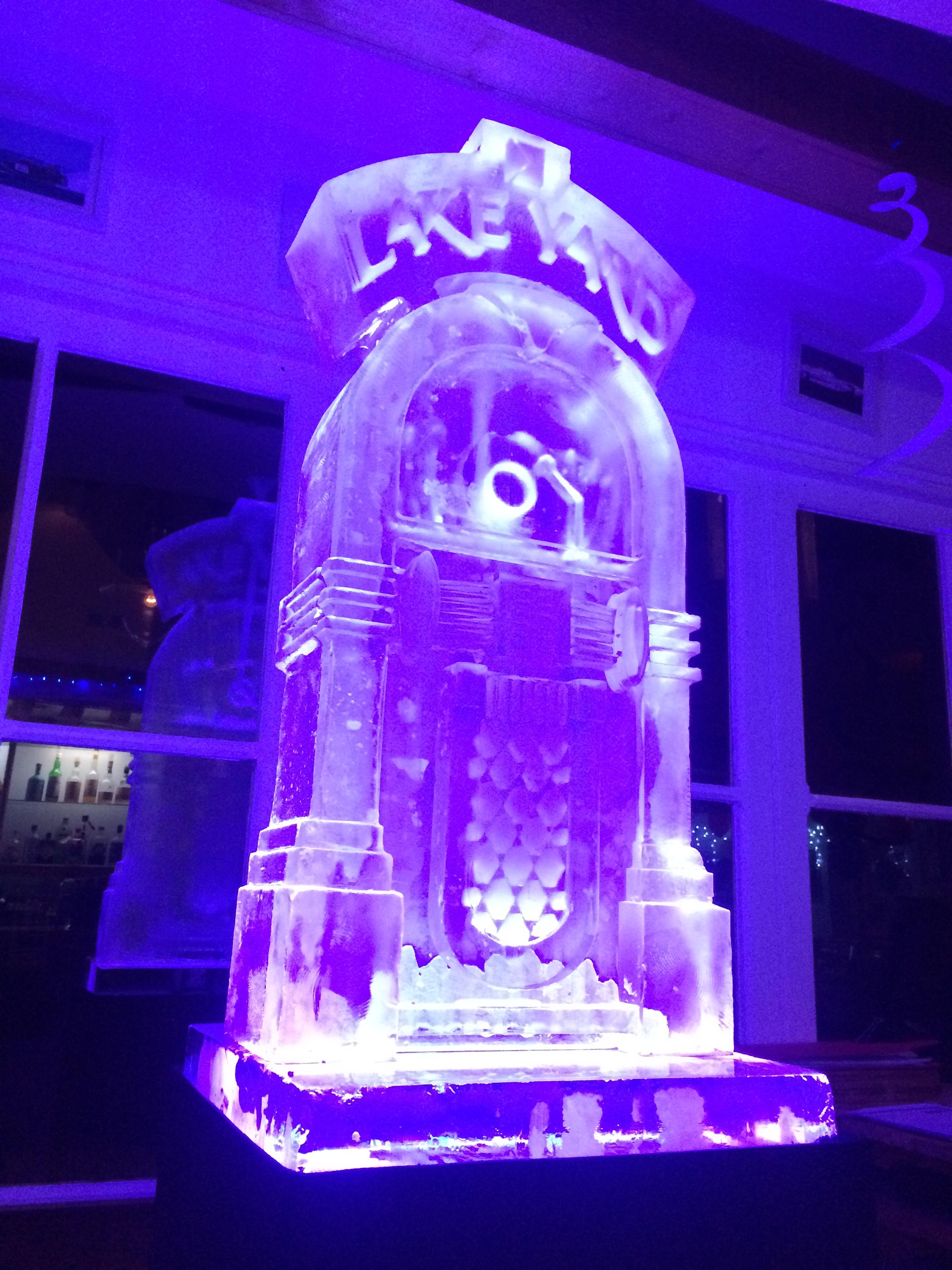 Juke Box Vodka Luge - New Years Eve Sculpture