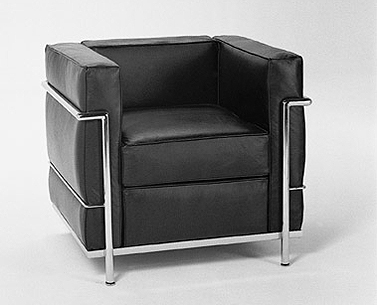 CO31: 1927-28  |                                        Le Corbusier                                       Club chair with tubular steel frame in epoxy enamel or polished chrome. Cushions in expanded foam and polyester fiber. Upholstery in leather or fabric.
