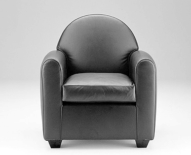 FR01: 1935  |                                      Jean Michel Frank                                      Armchair with hardwood frame covered with expanded foam and polyester fiber. Cushions in foam and down. Not removable upholstery in leather.
