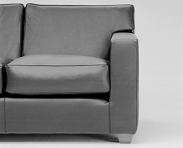 FR12:  1930  |                                      Jean Michel Frank                                       Two-seat sofa with hardwood frame covered with expanded foam and polyester fiber. Cushions in foam and down. Upholstery options are leather or removable fabric slip cover.