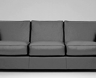 FR13:  1930  |                                      Jean Michel Frank                                           Three seat sofa with hardwood frame covered with expanded foam and polyester fiber. Cushions in foam and down. Upholstery options are leather or removable fabric slip cover.