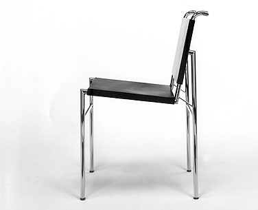 GR54: 1926  |                                      Eileen Gray                  Chair with chrome-plated tubular steel frame. Seat and back in hide.