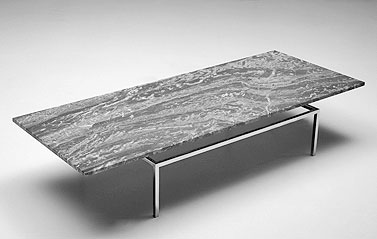 SA29-1: 1950 c.a.  |                                      Eero Saarinen                                       Table with chromed square steel tube frame. Top available in a variety of finishes.