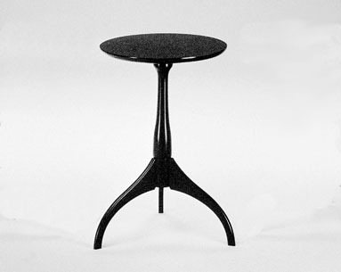SH09: 1805  |                                        Shakers                 Table with base and top in natural  lacquered cherrywood.