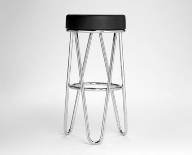 BR56: 1930 ca.  |                                      Marcel Breuer                          Stool with chromed tubular steel frame. Seat in self-supporting expanded foam with non removable covering in leather.