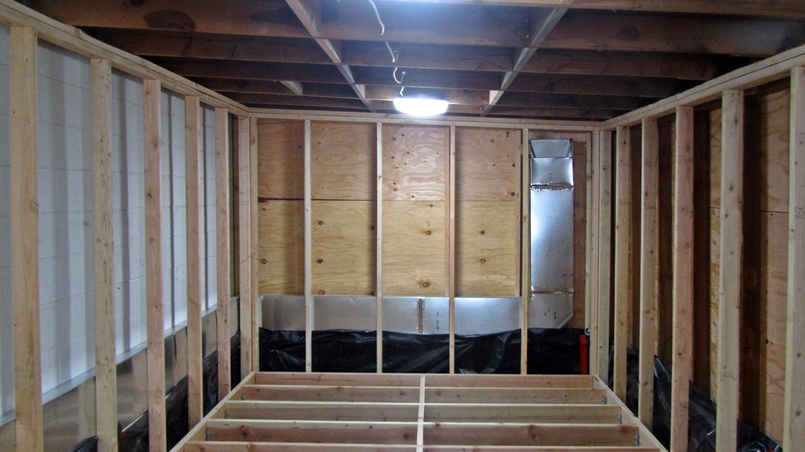 2. Reframing walls and adding aircon ducts