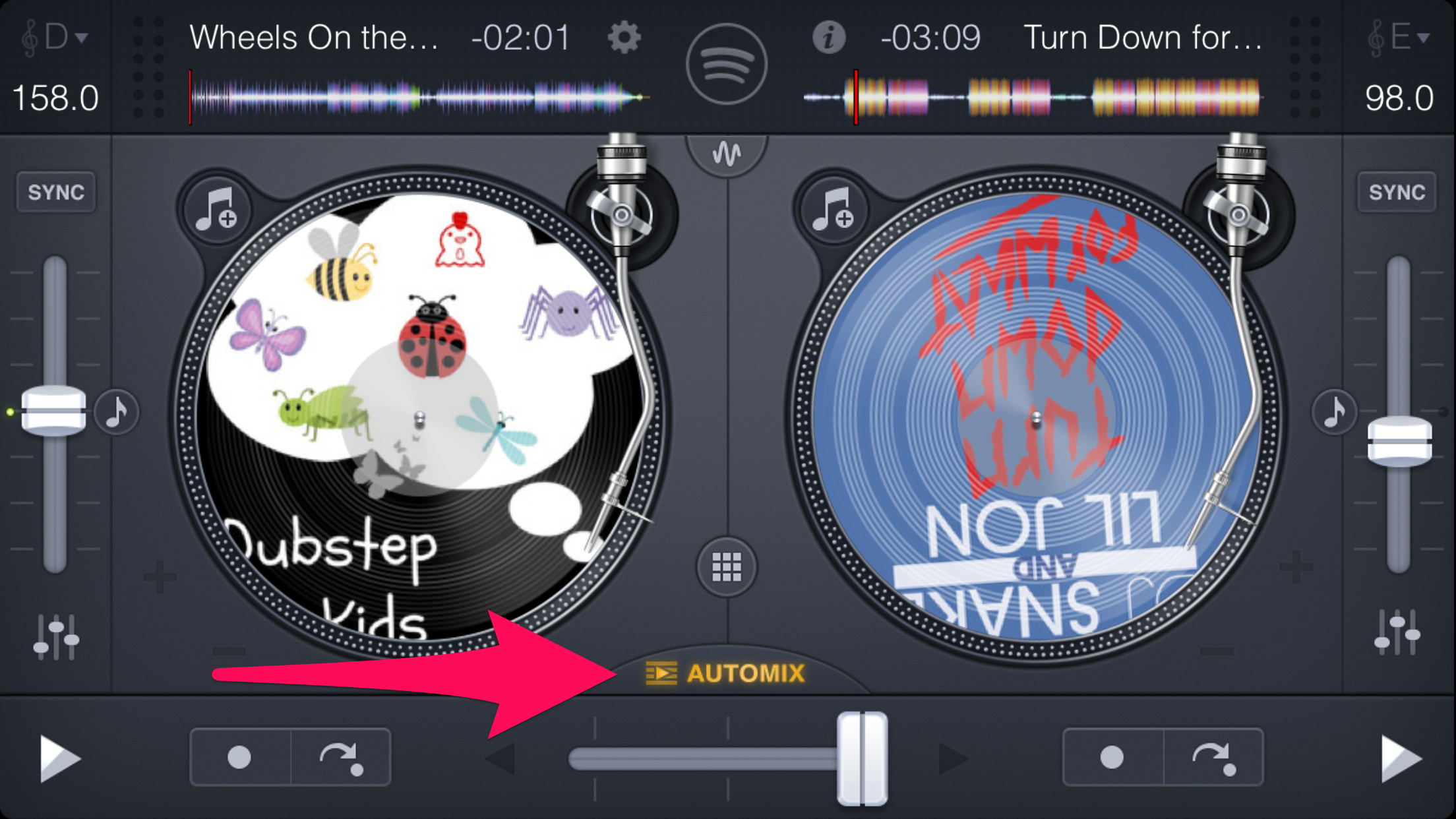 With automix you dance while you DJ! What what!