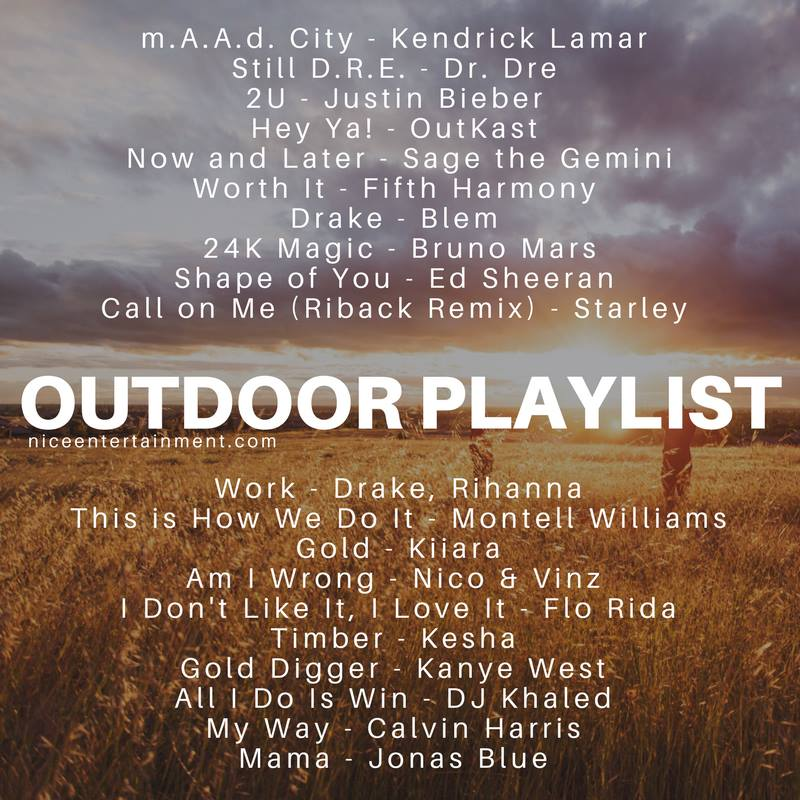 If you're young, wild, & free.. here's your outdoor playlist!