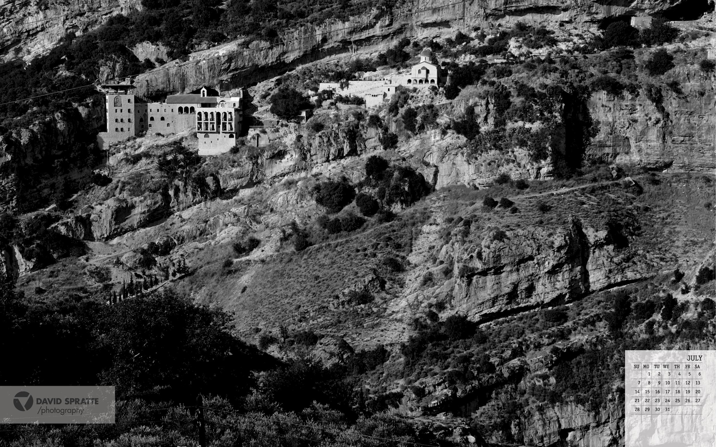 View of Hamatoura Monastery is July's wallpaper shot.