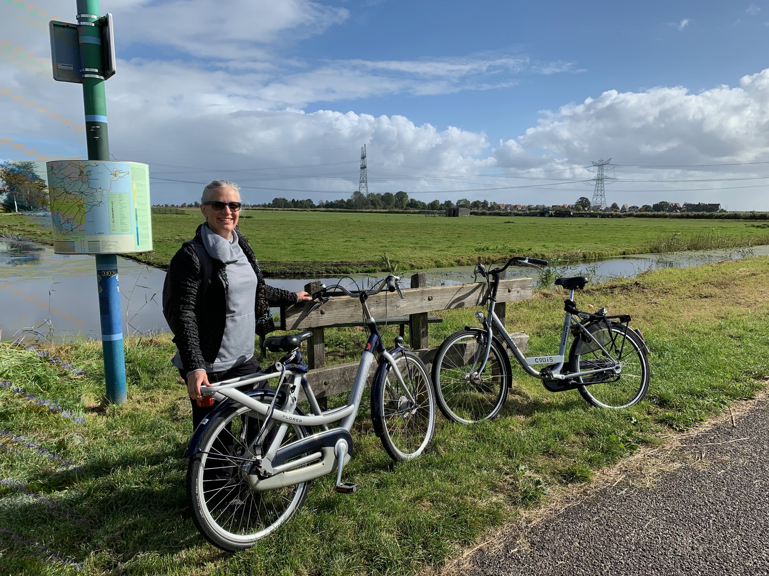 Rental bikes outside Durgerdam.
