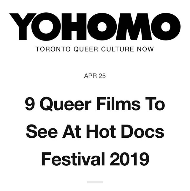 9 Queer Films to See at HotDocs according to @weareyohomo 🇨🇦🌈🎬🎥🏳️‍🌈 Honored to be featured with these great projects:  Trixie Mattel: Moving Parts Drag Kids  Long Time Comin' Killing Patient Zero XY Chelsea Authentically Us  Beauty & Decay Take Me To Prom Seahorse  Full list here: https://yohomo.ca/blog/x-queer-films-to-see-at-toronto-hot-docs-festival-2019 . . . .  #gay #film #hotdocs #dragrace #trixiemattel #vr #virtualreality #transgender #lgbt #queer #toronto #hotdocs #chelseamanning #lesbian #proud #pride #pride2019