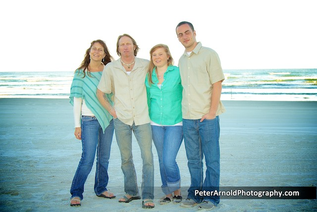 Family Portrait Session in New Smyrna Beach,Minorca Condominium
