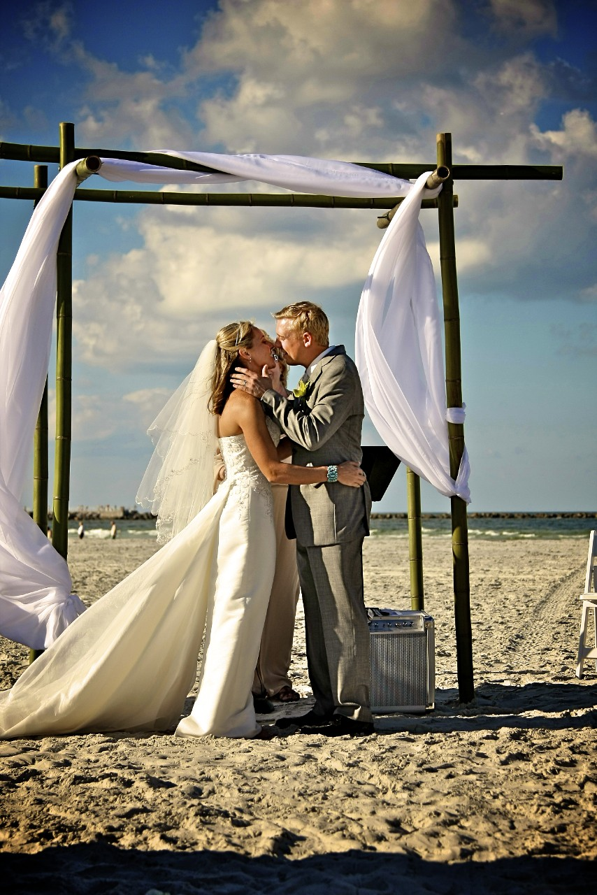 Beach Wedding Kiss
