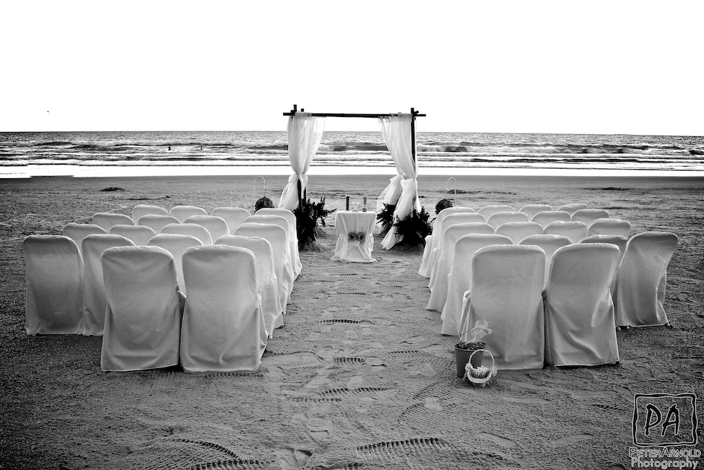 A Beach Wedding Setup, ready for the bride and groom to arrive!