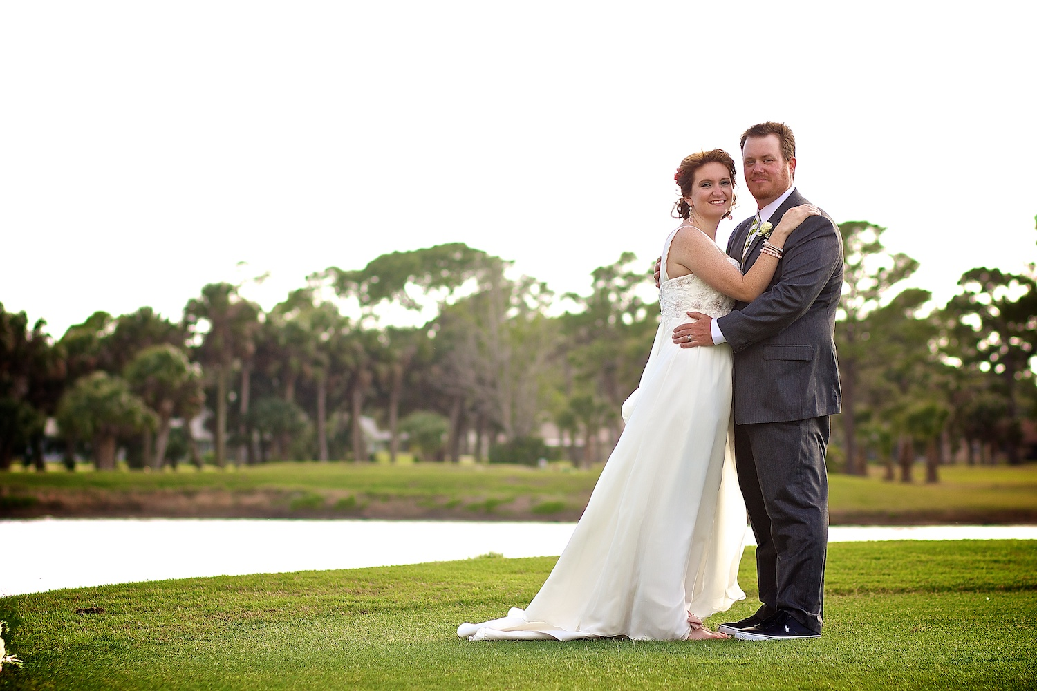 Bride and Groom on the Green