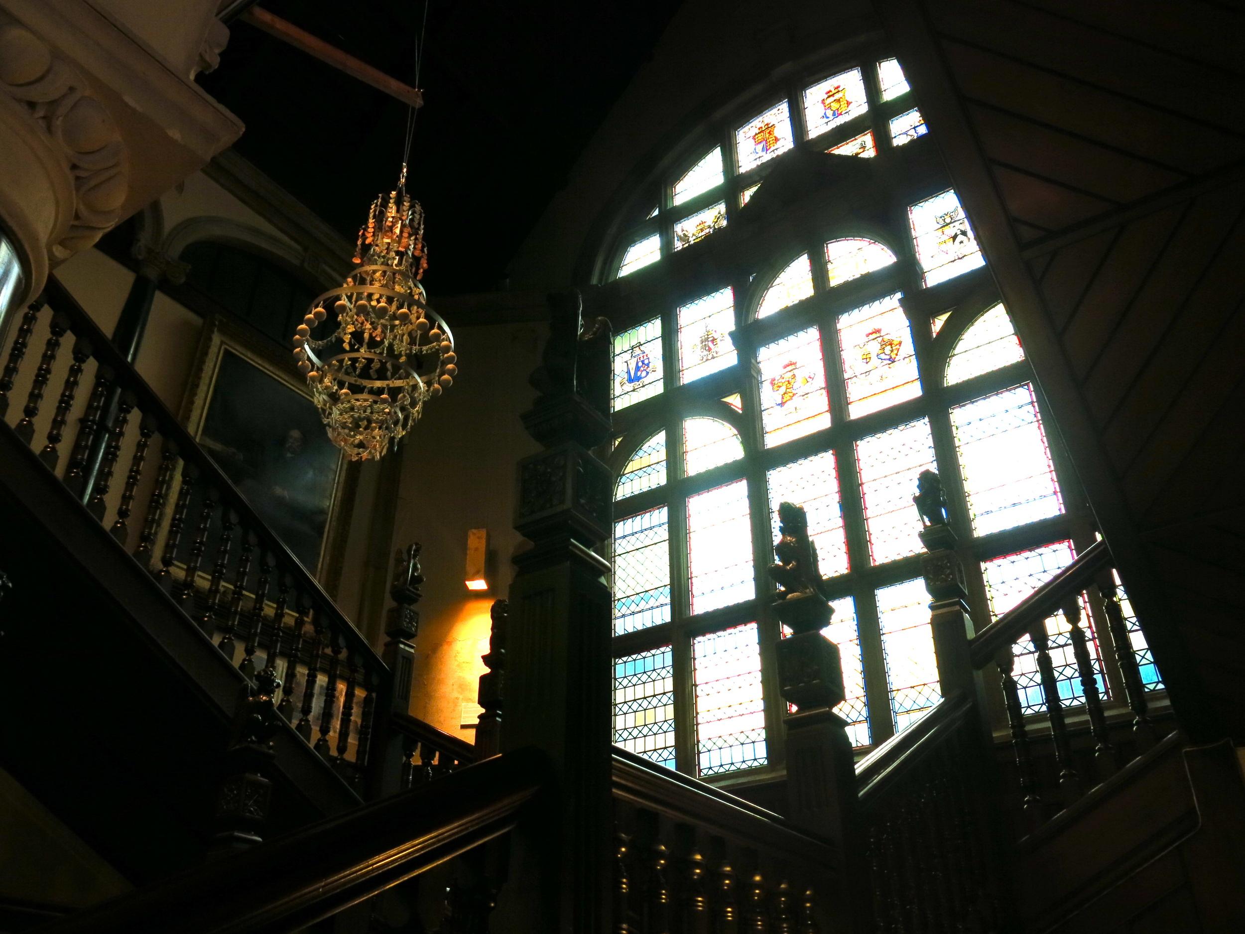 Elise Menghini chandelier Town Hall.JPG