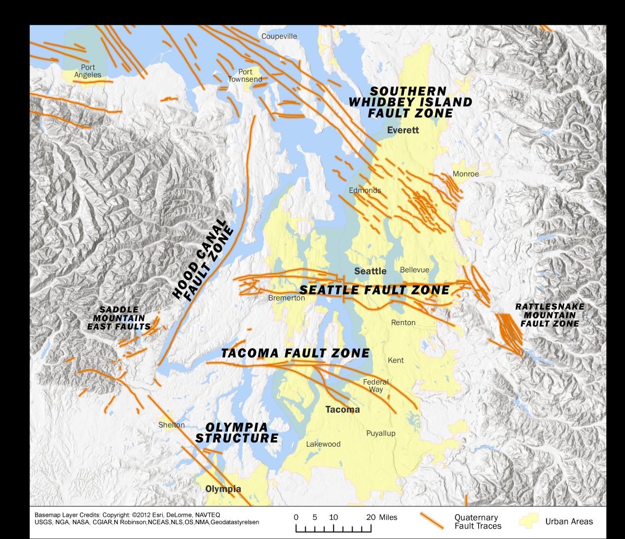 Puget Sound Area Faults