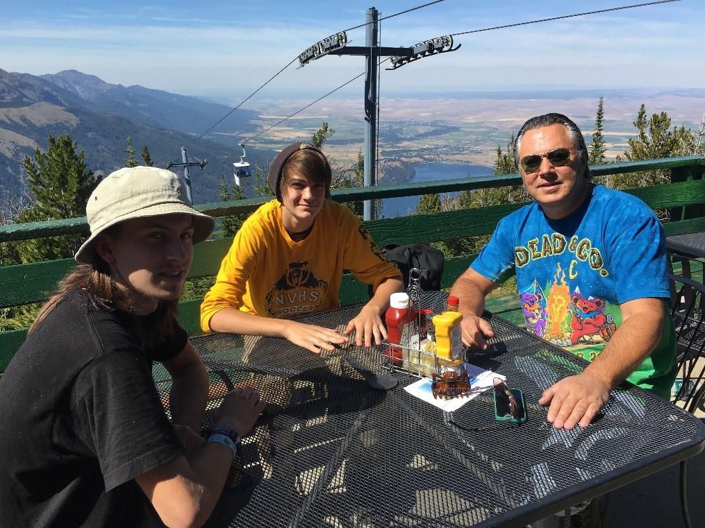 John Knutson and family at the Wallowa Lake Tram
