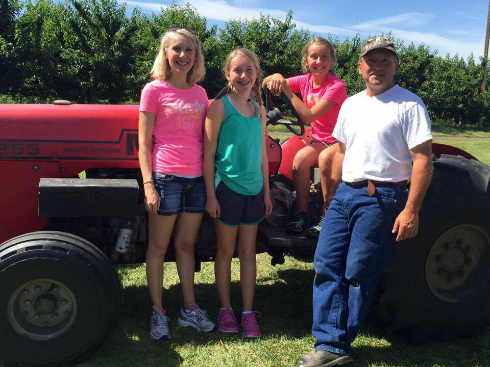 Bill Rice and family at Cherry Harvest