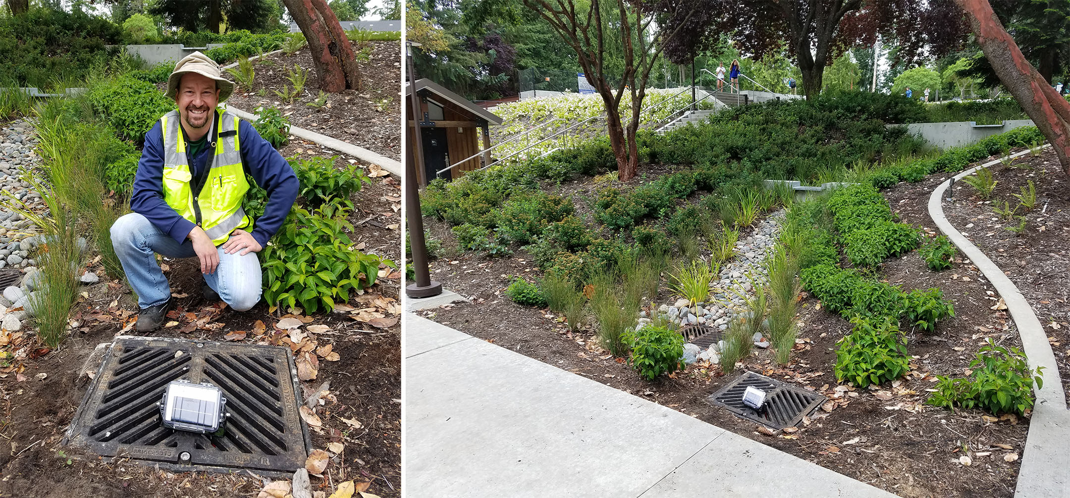 The Water Detector is a low-cost, telemetered tool that measures a rain garden's hydraulic performance.