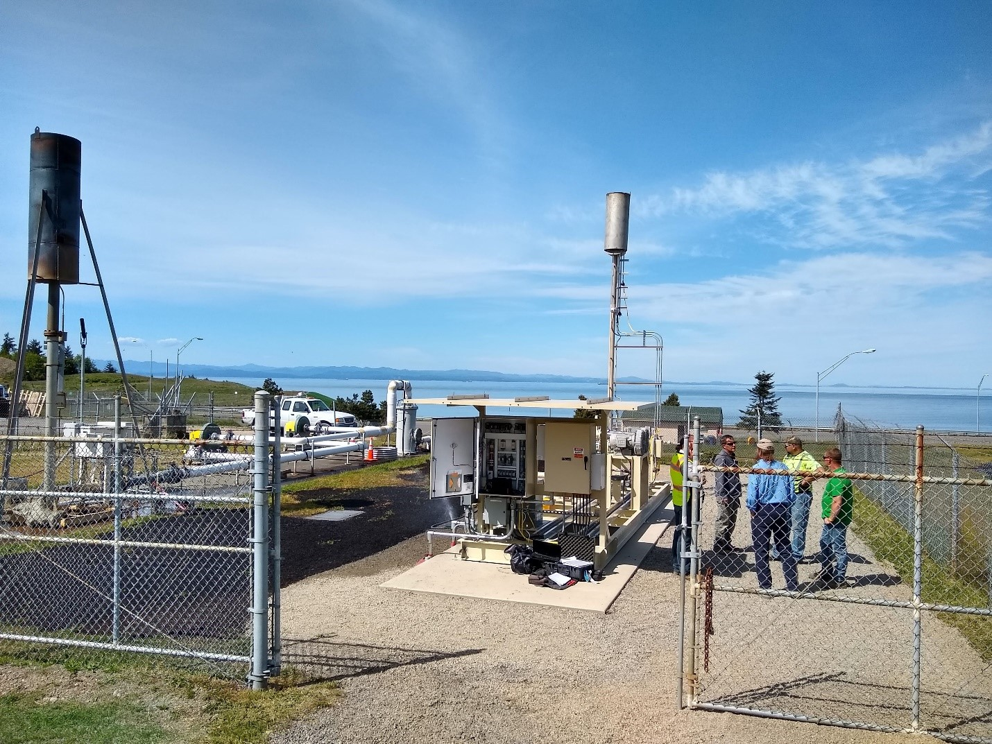 The last flare this landfill in Port Angeles will ever need. When the gas is no longer combustible, reliable treatment will be provided by biofilter technology – made easier by recent updates in air quality criteria.