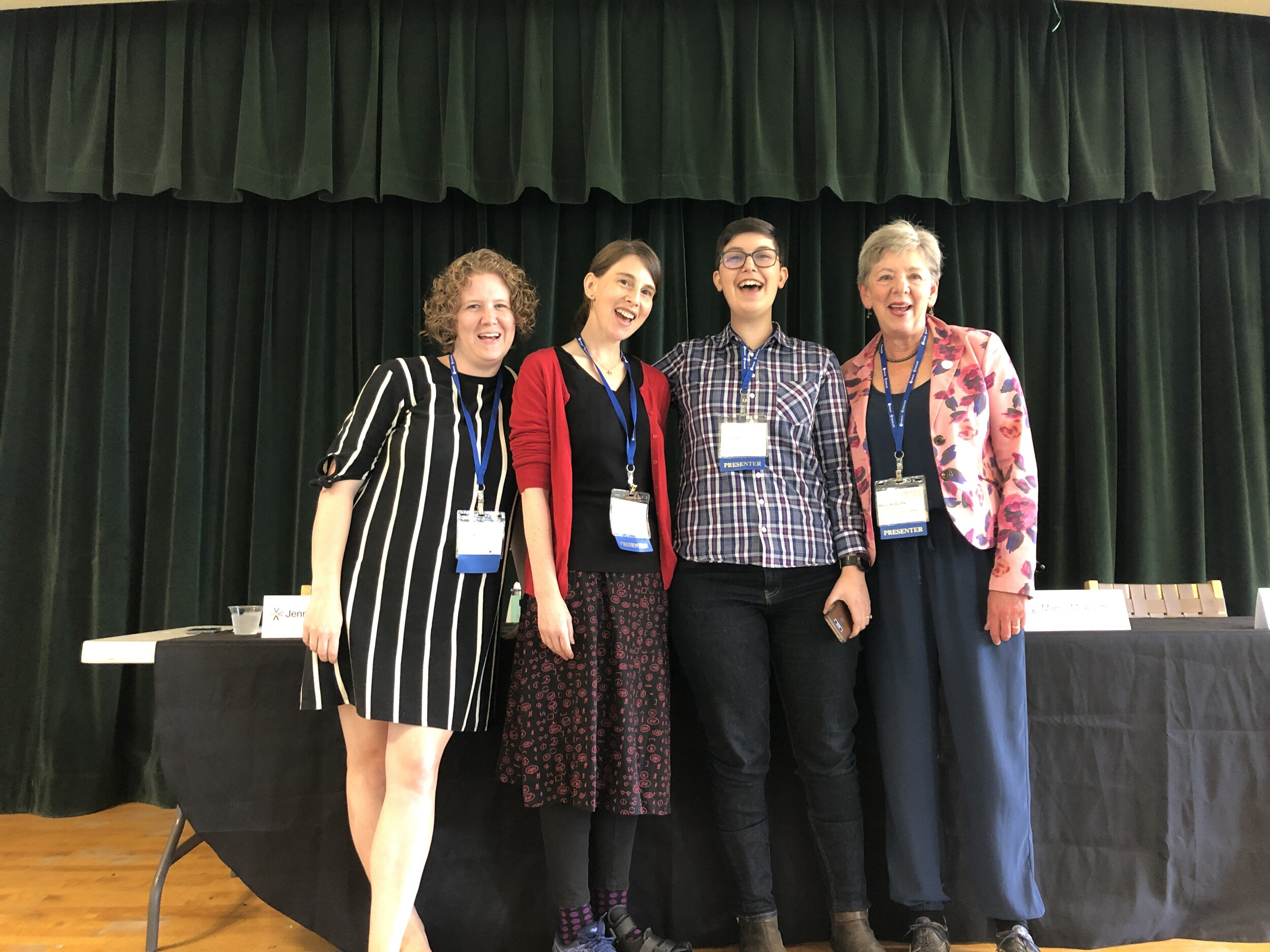 Technical Editors Kristen Legg, Jen Koogler,Hannah Garrison, and Marcy McAuliffe before their panel Photo Credit: Hannah Garrison