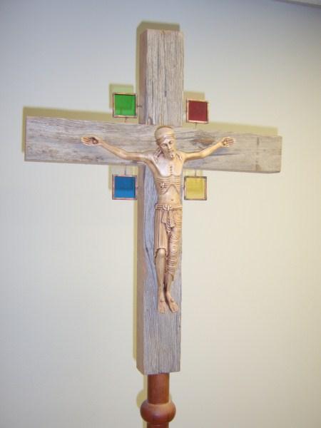Barnwood Processional Cross
