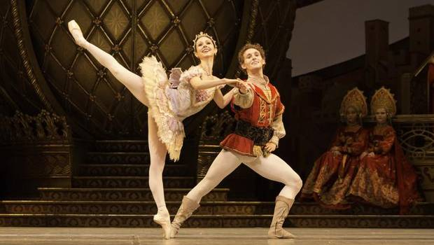 Jillian Vanstone and Skylar Campbell are well matched in this year's production of the National Ballet's The Nutcracker.  (Aleksandar Antonijevic) Courtesy of The Globe and Mail