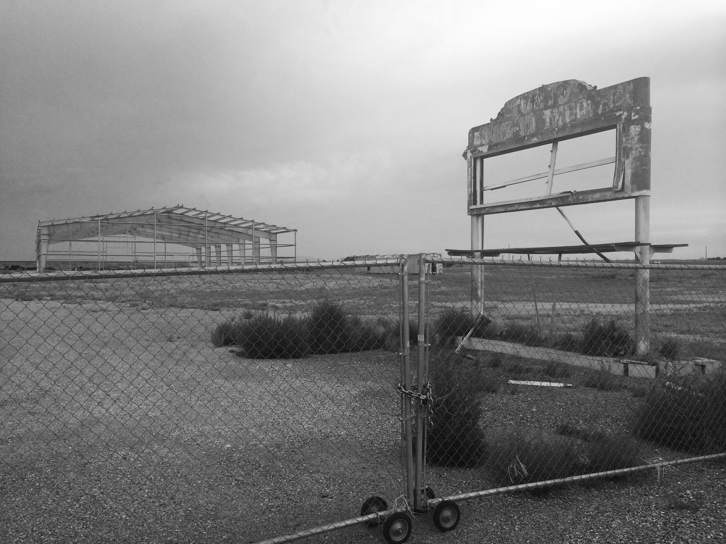 Abandoned marquee from Tonto Drive-In located in Winslow, AZ.